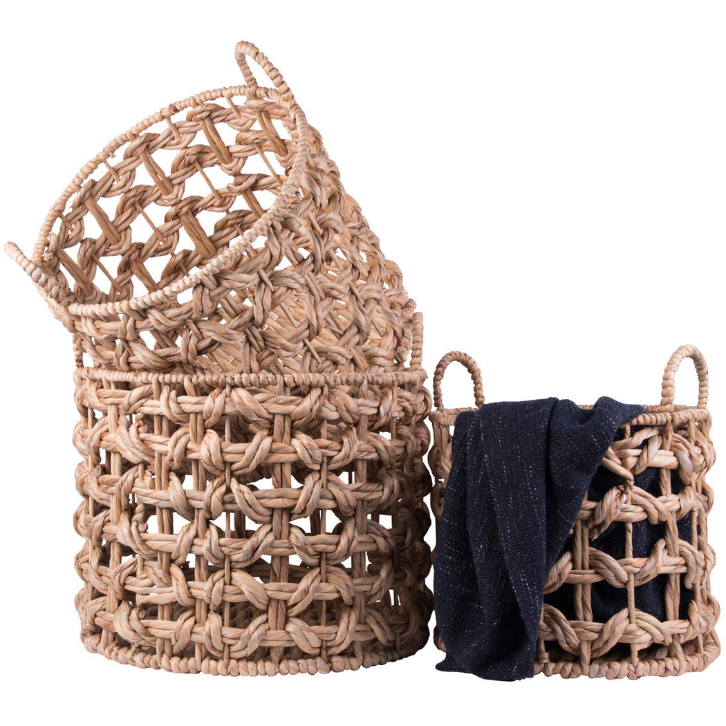 Waterhyacinth Baskets Set Of 3