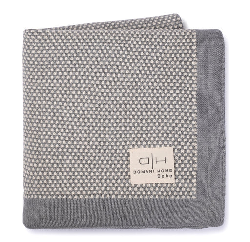 DH Stipple Light Gray Baby Blanket