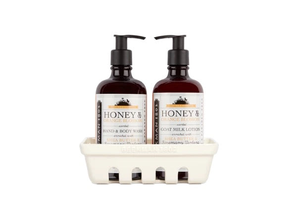 Beekman Honey & Orange Blossom Hand Care Caddy Set