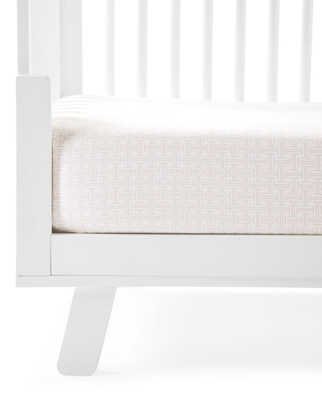 Pink Trellis Crib Sheet