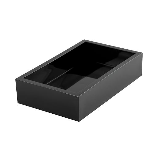 Caspari Black Napkin Holder Tray
