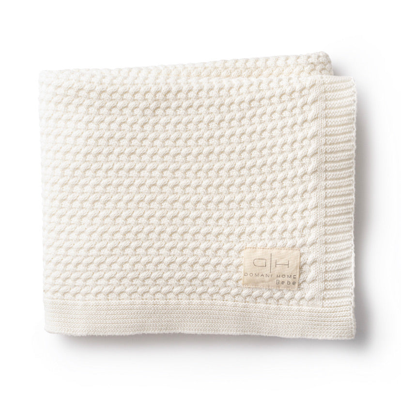 DH Herringbone Cream Baby Blanket