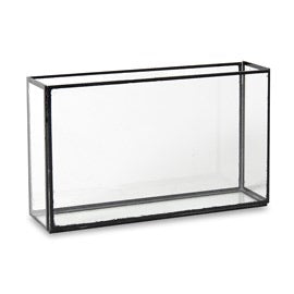 Factor Rectangular Glass Vases With Black Trim