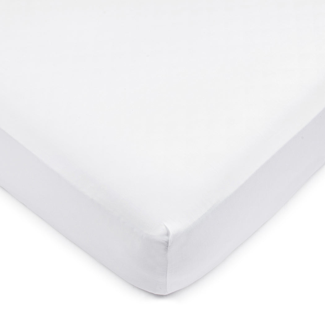 Premium White Sateen Crib Sheet