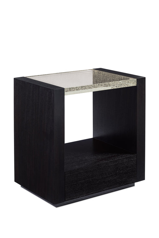Glass Top Nightstand