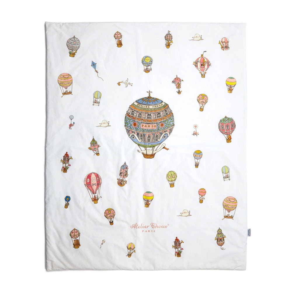 Reversible Quilt Monceau Mansion/ Hot Air Balloons