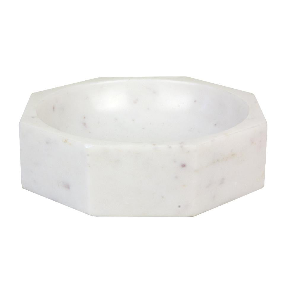 Marble Octagonal Modernistic Bowl