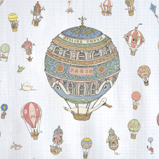 Atelier Choux Crib Fitted Sheet Hot Air Balloon