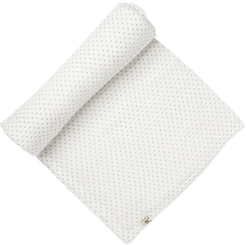 Pin Dot Grey Swaddle