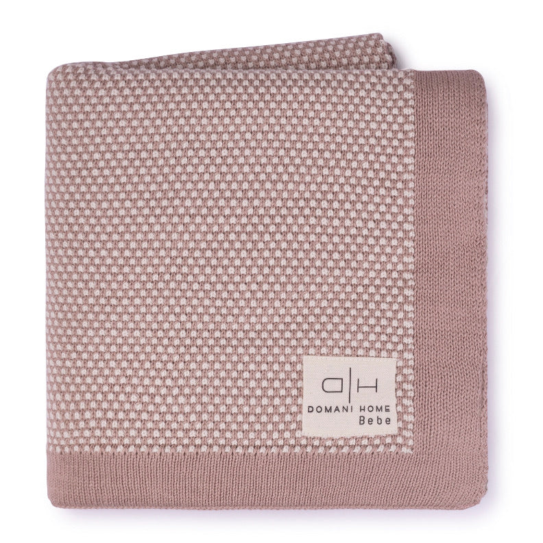 DH Stipple Pale Pink Baby Blanket
