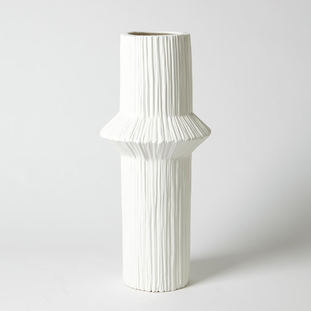 Ascending Ring Vase Matte White