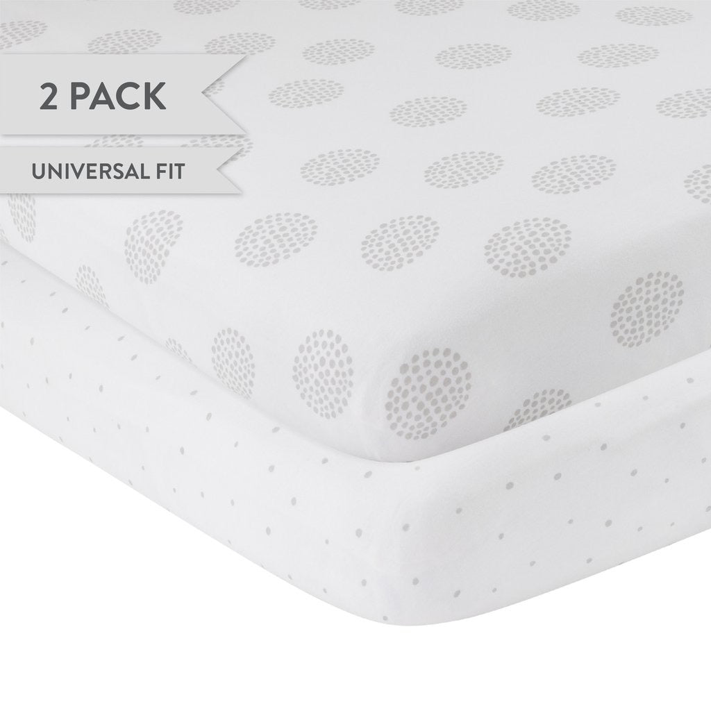 Gray Dottie Crib Sheet Set