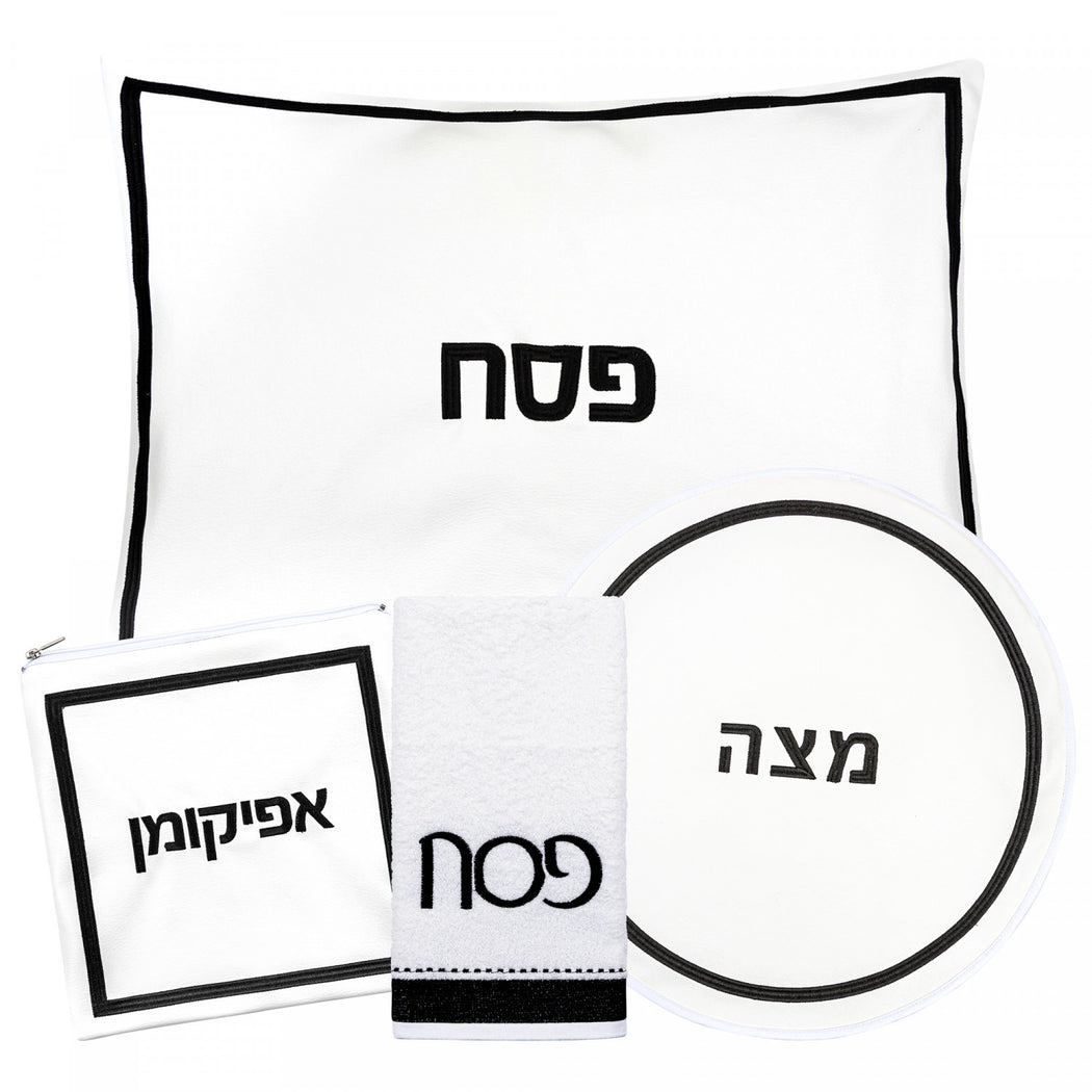 Leather Hotel Black Pesach Set
