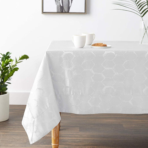 Honeycomb Damask Tablecloth
