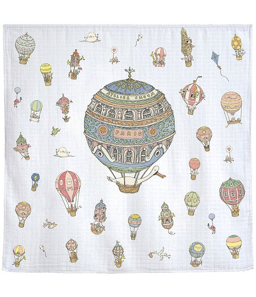 Atelier Choux Baby Hot Air Balloons Swaddle Blanket