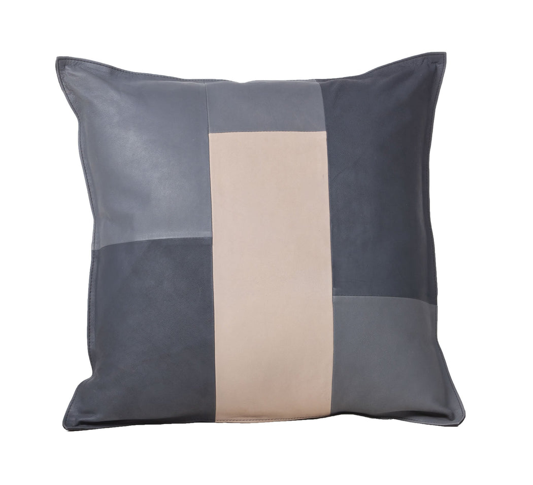 Fibre Tricolor Goat Skin Accent Pillow