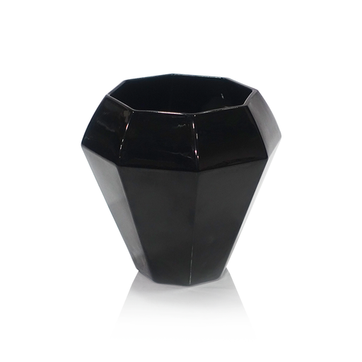 Cielia Black Glass Bud Vase