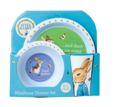 3PC DINNER SET: PETER RABBIT
