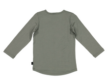 Load image into Gallery viewer, LFOH-WYATT LS TOP, OLIVE- MERINO