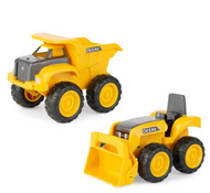 15CM SANDBOX CONSTRUCTION 2PK - YELLOW-JOHN DEERE