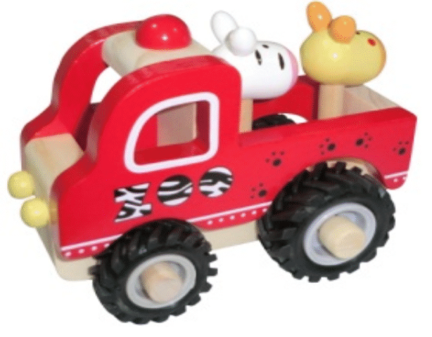 Wooden Toy Zoo Truck