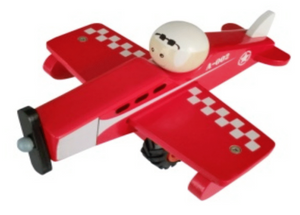 Wooden Toy Aeroplane- Red