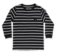 Load image into Gallery viewer, HELLO STRANGER STRIPES ON STRIPES LS TALL TEE