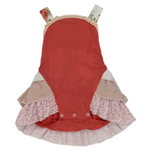 Load image into Gallery viewer, ARTHUR AVENUE RED FRILLY OVERALLS