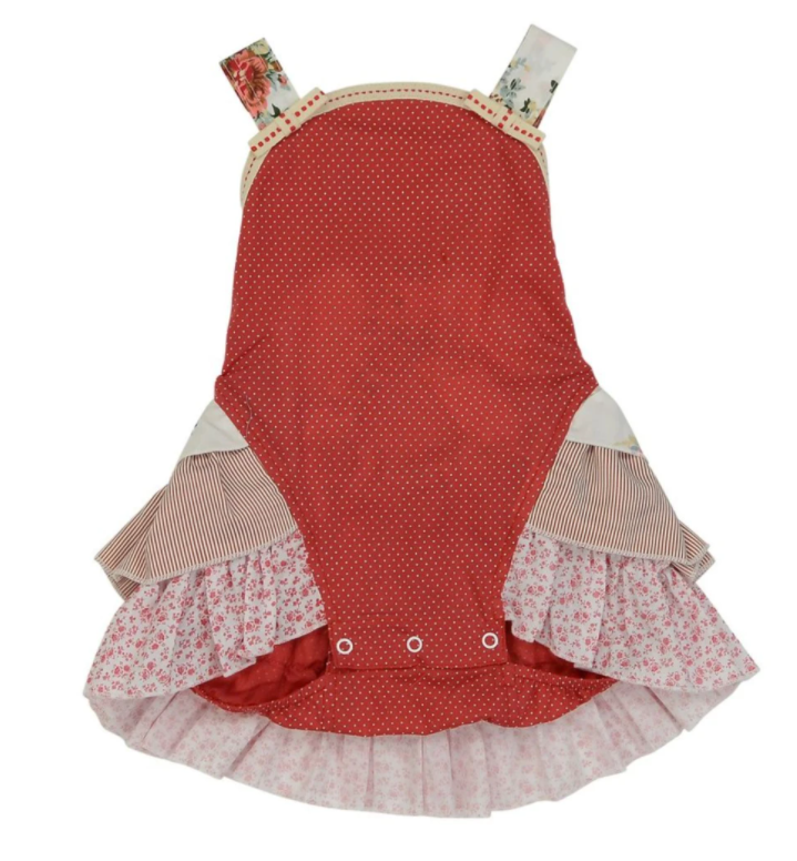 ARTHUR AVENUE RED FRILLY OVERALLS