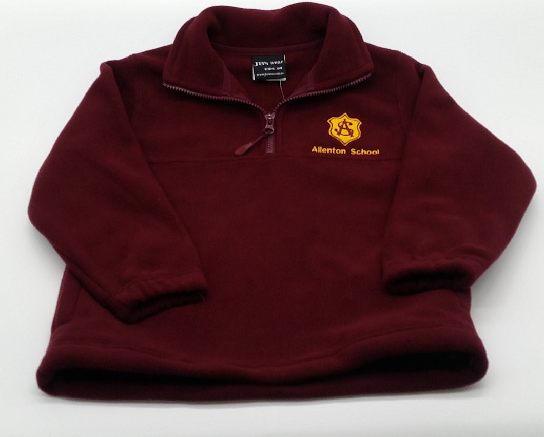 Allenton School- Polar Fleece Maroon 1/2 Zip