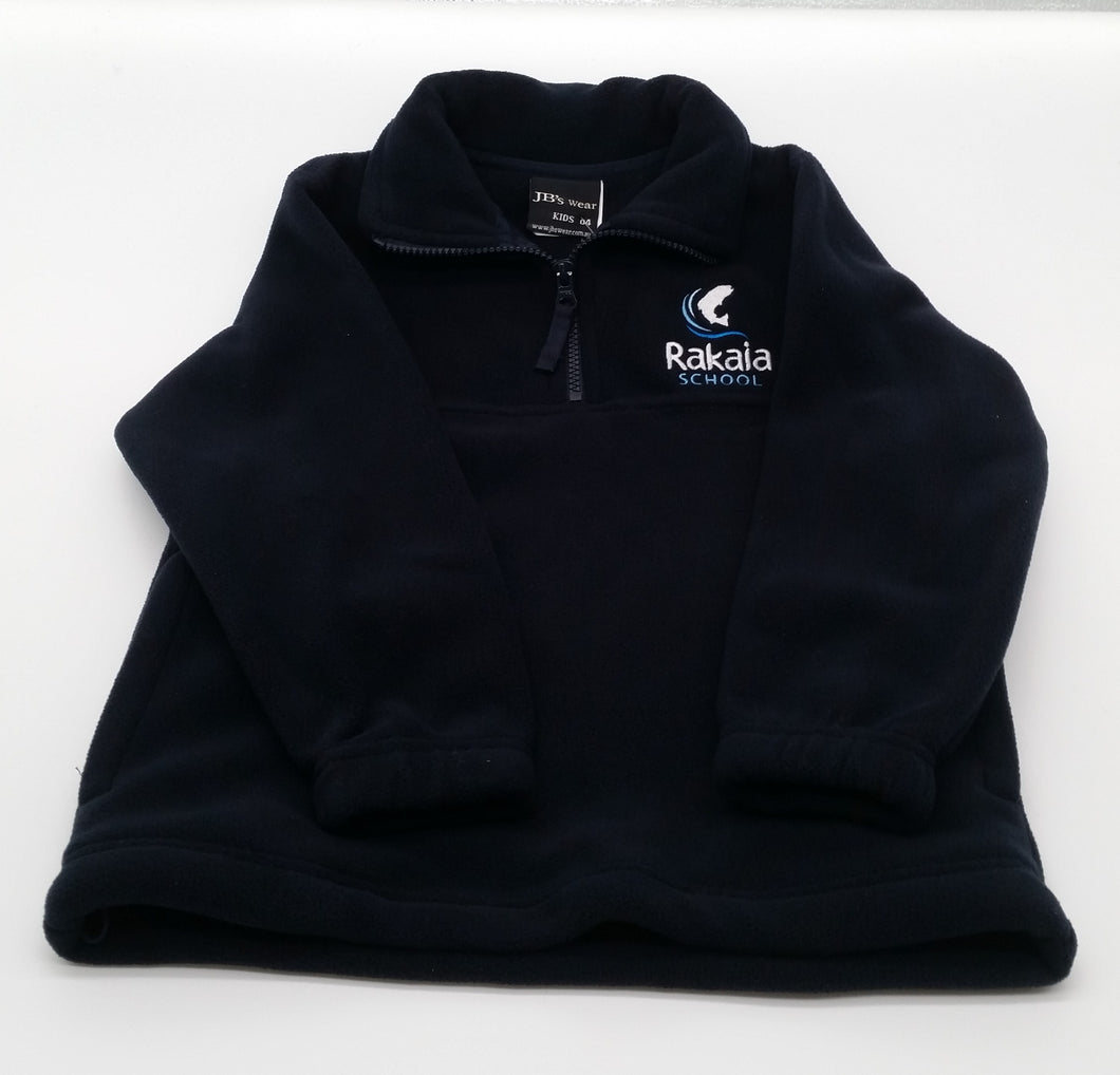 RAKAIA SCHOOL - NAVY POLAR FLEECE 1/2 ZIP