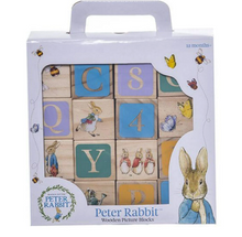 Load image into Gallery viewer, Peter Rabbit Wooden Picture Blocks Multi