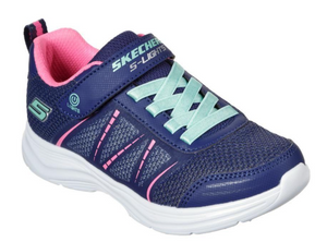 SKECHERS Boys Trainers ThermoFlux Nano Grid -Navy Lime