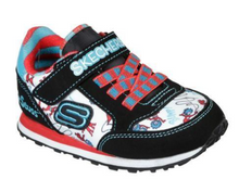 Load image into Gallery viewer, SKECHERS GIRLS TRAINER LITE - BRIGHT RACER- NAVY/MULTI - US 11