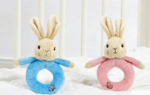 Peter Rabbit - Peter Rabbit or Flopsy Bunny Ring Rattles