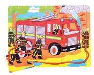 9 PIECE TRAY JIGSAW PUZZLE - FIRE ENGINE