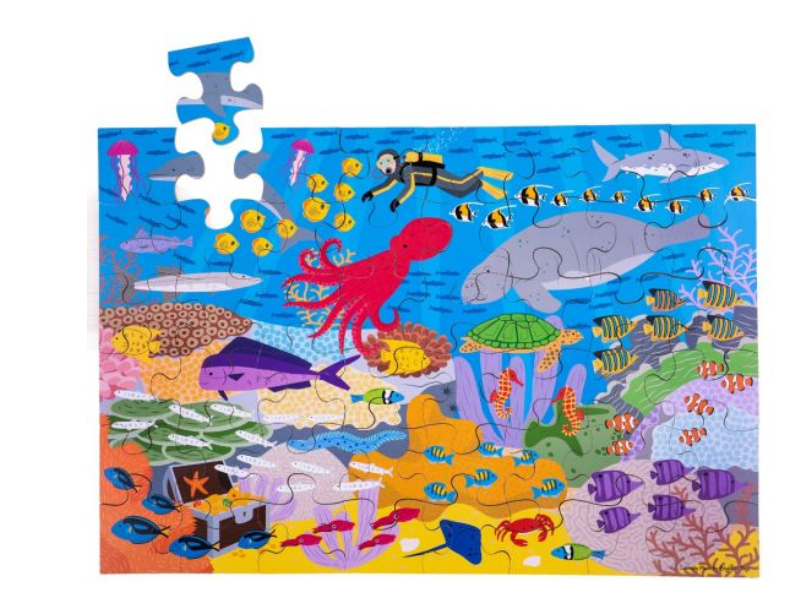 UNDER THE SEA FLOOR JIGSAW PUZZLE (48 PIECE)