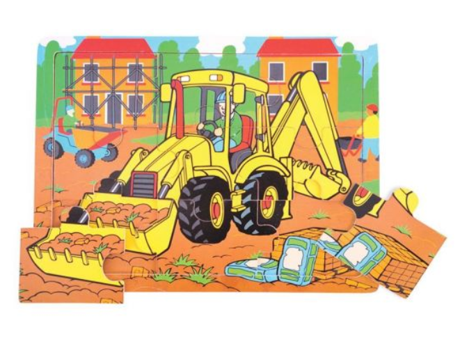 9 PIECE TRAY JIGSAW PUZZLE - DIGGER