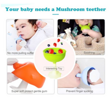 Load image into Gallery viewer, MUSHROOM SOOTHING TEETHER - PINK