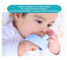 Load image into Gallery viewer, MUSHROOM SOOTHING TEETHER - BLUE