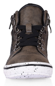 Archie Lace high top boot- Khaki/Black - Grosby Kids