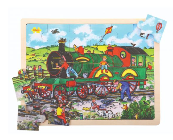 BIG CHUNKY WOODEN JIGSAW PUZZLE - TRAIN