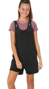 Girls Abby Overall - Teen BLACK
