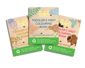 HONEYSTICKS-COLOURING BOOKS