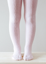 Load image into Gallery viewer, LAMINGTON Merino Wool Cable Tights |  CHERRY BLOSSOM