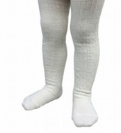 LAMINGTON Merino Wool Cable Tights |  CREAM