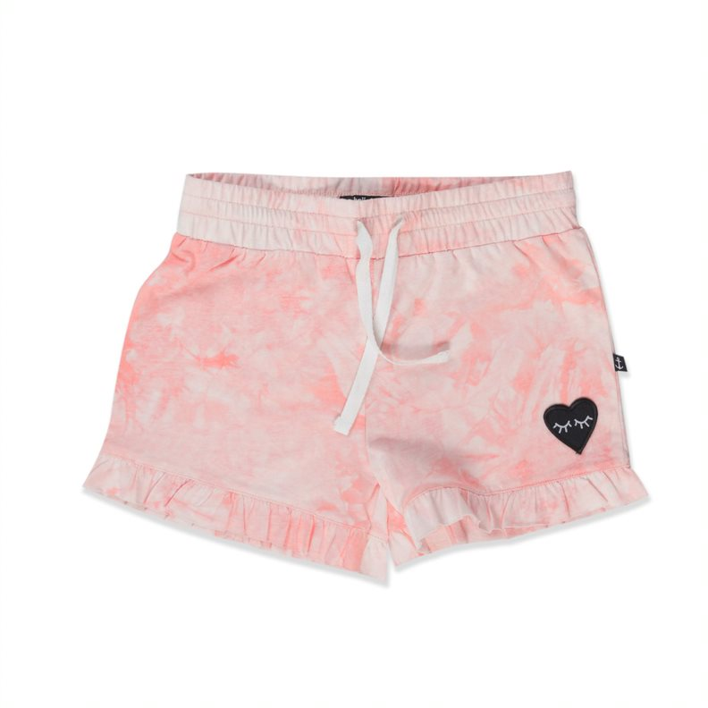 HELLO STRANGER-FRILL SHORTIES – washed pink