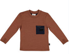 Load image into Gallery viewer, Lincoln Pocket Tee-Merino, Russet