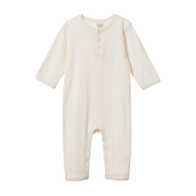 Load image into Gallery viewer, NATURE BABY-HENLEY PYJAMA -ALL IN ONE SUIT -POINTELLE