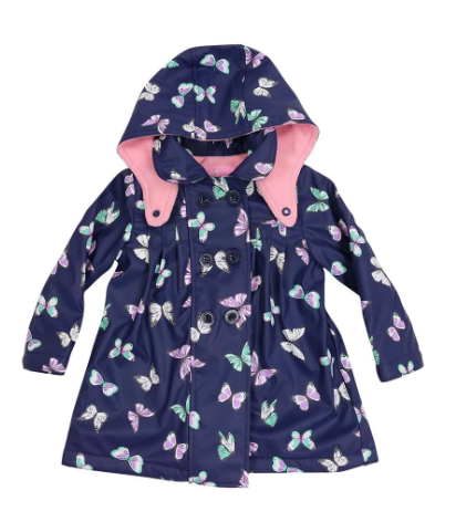Raincoat Butterfly Print